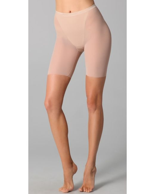 Spanx | Pink Haute Contour Sexy Sheer Mid Thigh Bottoms | Lyst