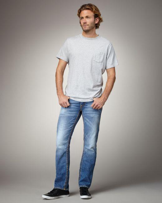 True Religion   Blue Geno Slim Mens Jean for Men   Lyst