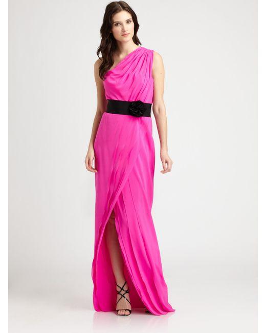 Robert Rodriguez   Pink Silk Gown    Lyst