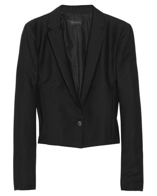 Calvin Klein | Black Petite Open-front Jacket | Lyst