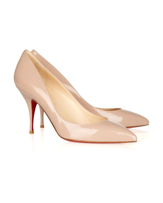 Christian Louboutin | Natural The Pigalle 100 Polished-Leather Pumps | Lyst