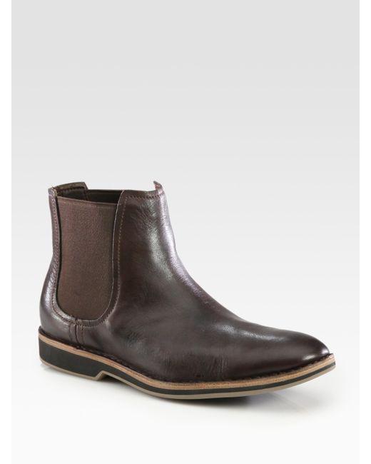 Cole Haan   Brown Warren Leather Chelsea Boot for Men   Lyst