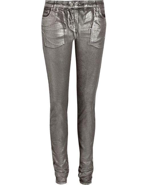 Roberto Cavalli   Metallic Mid-rise Skinny Jeans   Lyst