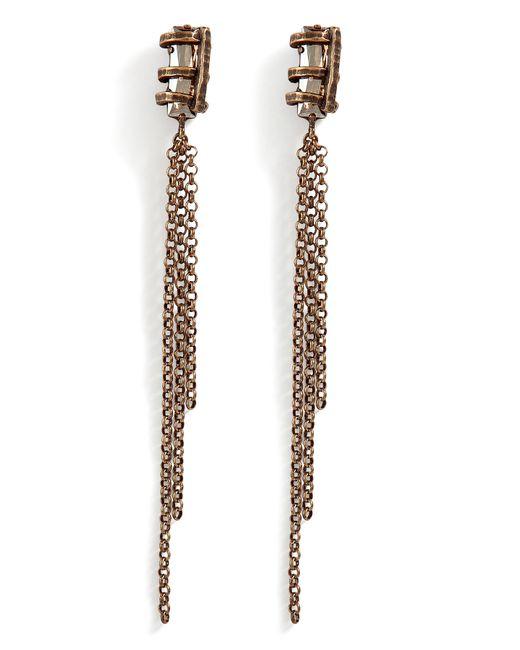 DANNIJO | Red The Alek Citrine Swarovski Crystal Earrings | Lyst
