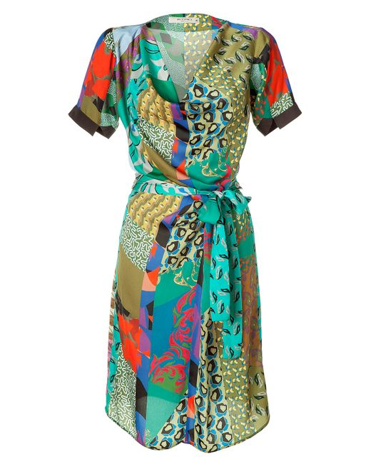 Etro | Green 3/4-sleeve Graffiti & Paisley Print Dress | Lyst