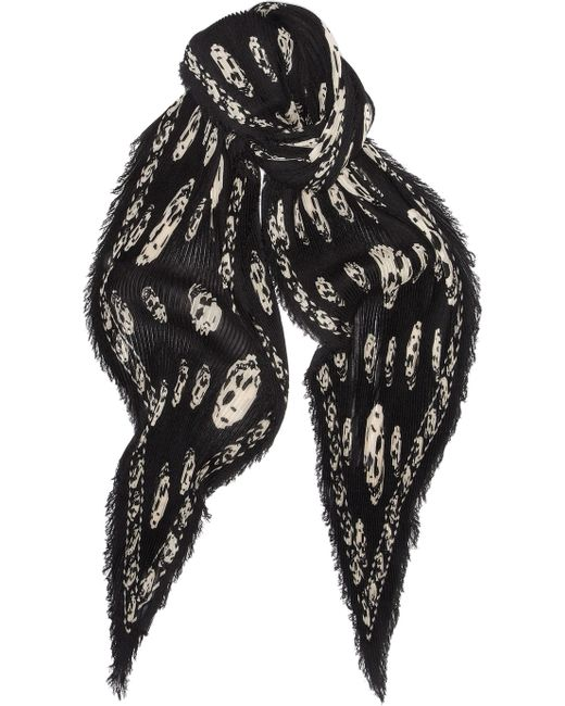 Alexander McQueen | Black Classic Skull Silk Scarf | Lyst