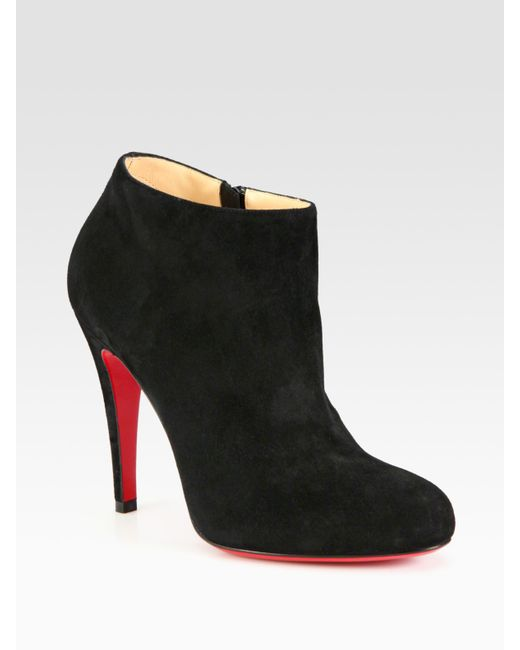 christian louboutin suede ankle boots in black save 7