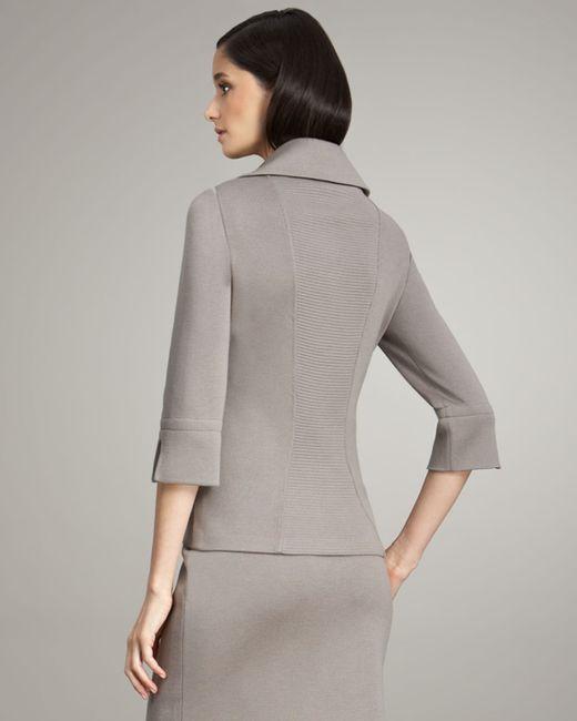 Buchanan & Zavala | Gray Ponte Knit Jacket | Lyst