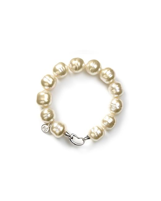 Majorica | White 14mm Baroque Simulated Pearl Bracelet | Lyst