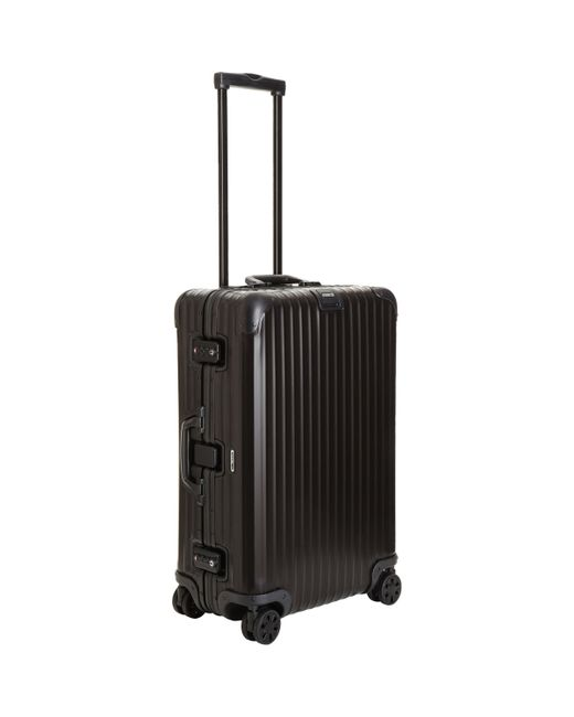 rimowa topas stealth 26 multiwheel suitcase in black for men lyst. Black Bedroom Furniture Sets. Home Design Ideas