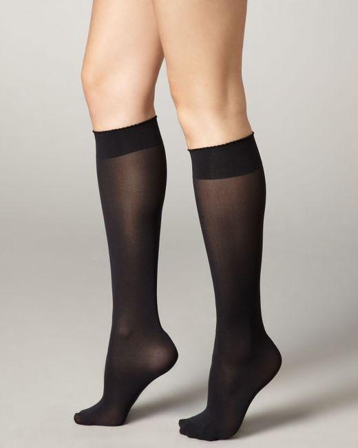 Wolford   Black Velvet De Luxe 50 Denier Knee-high Socks   Lyst