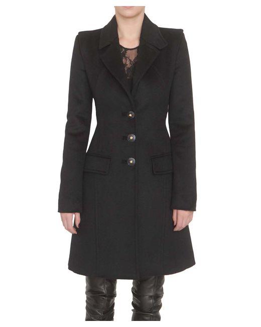 Versace | Black Coat | Lyst
