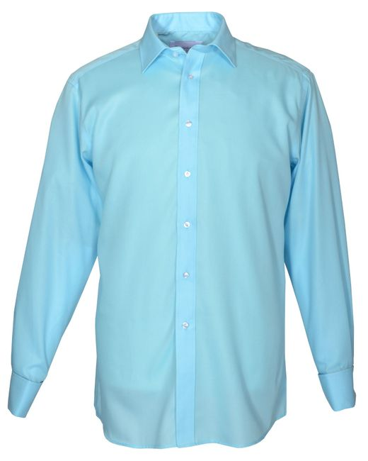 Double Two | Blue Long Sleeve Non Iron Formal Shirt for Men | Lyst