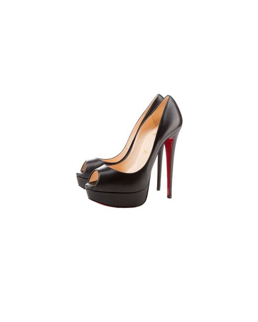 cheap knock off red bottom shoes - Christian louboutin Lady Peep Platform Patent Leather Pumps in ...