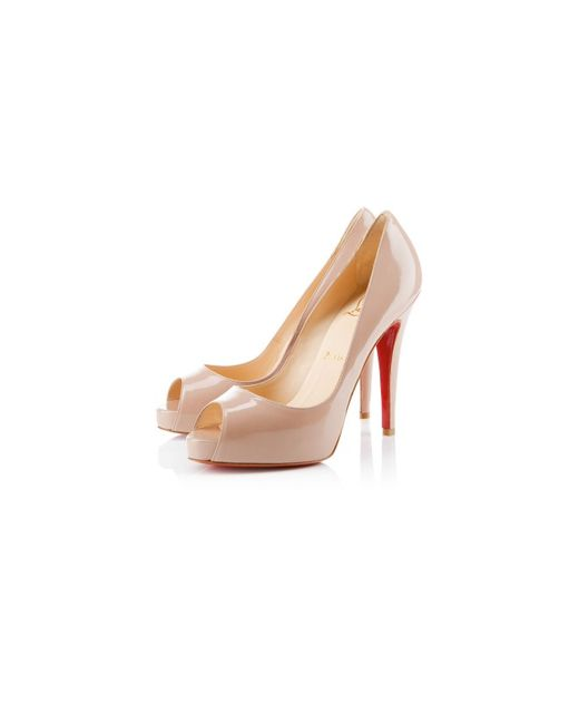 replica slippers - Christian louboutin Very Prive Patent Leather Platform Pumps in ...