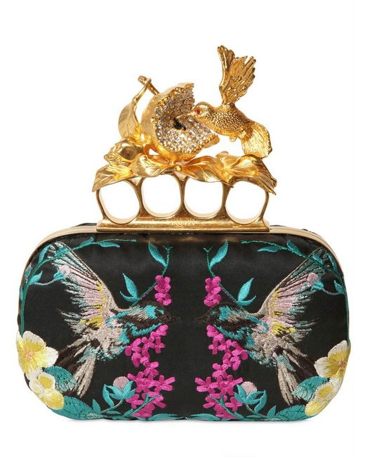 Alexander McQueen | Multicolor 'knuckle' Unicorn Embellished Box Clutch | Lyst