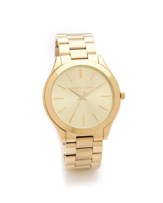 Michael Kors | Slim Runway Watch - Gold | Lyst