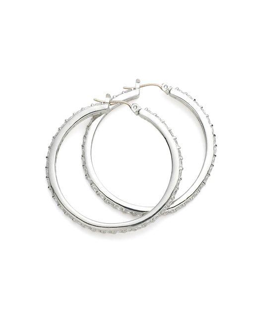 Brooks Brothers | Metallic Cubic Zirconia Hoop Earrings | Lyst