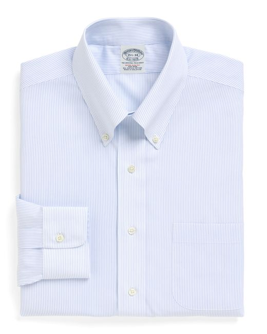 Brooks Brothers Non Iron Milano Fit Mini Pinstripe Dress