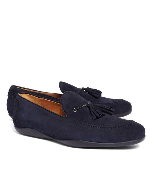 Brooks Brothers | Blue Harrys Of London® Dylan Kudu Loafers for Men | Lyst