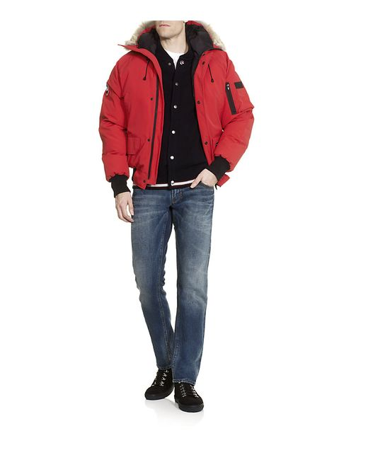 Canada Goose trillium parka online shop - Canada goose Chateau Coyote-Trimmed Down-Filled Parka in Red for ...