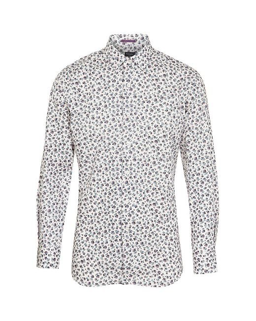 Paul Smith | Blue Feather Print Shirt for Men | Lyst