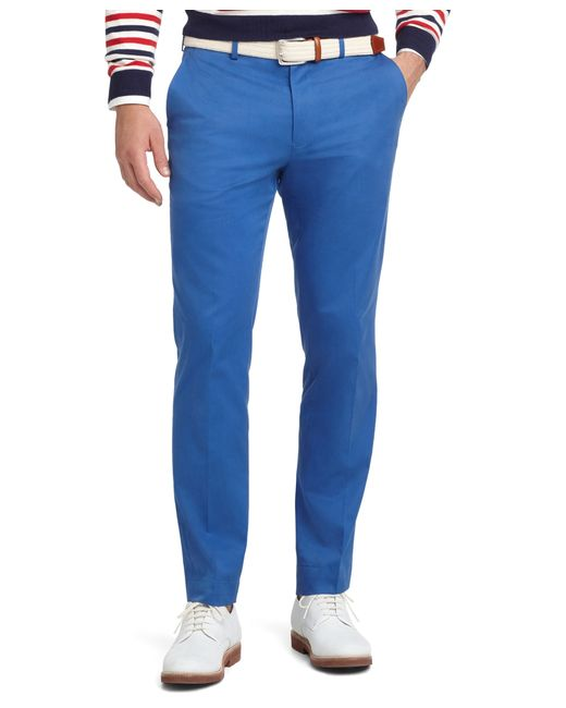 Brooks Brothers | Blue Milano Fit Plain-front Dress Chinos for Men | Lyst