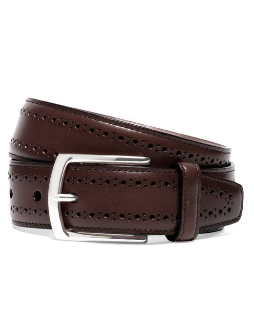 Brooks Brothers | Brown Allen Edmonds Perforated Belt for Men | Lyst
