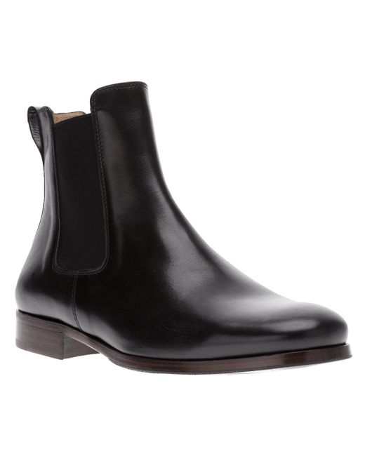 A.P.C. | Multicolor Black Leather Chelsea Boots for Men | Lyst