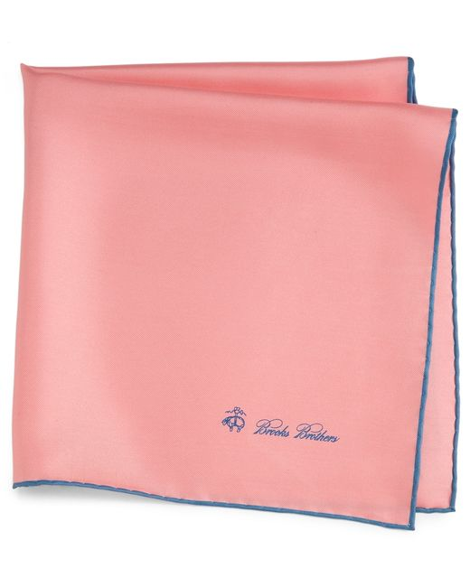 Brooks Brothers | Pink Silk Pocket Square for Men | Lyst