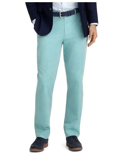 Brooks Brothers | Green Fitzgerald Fit Plain-front Cotton Dress Chinos for Men | Lyst