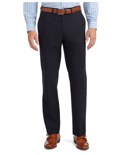 Brooks Brothers | Blue Fitzgerald Fit Plain-front Solid Brookscool® Dress Trousers for Men | Lyst