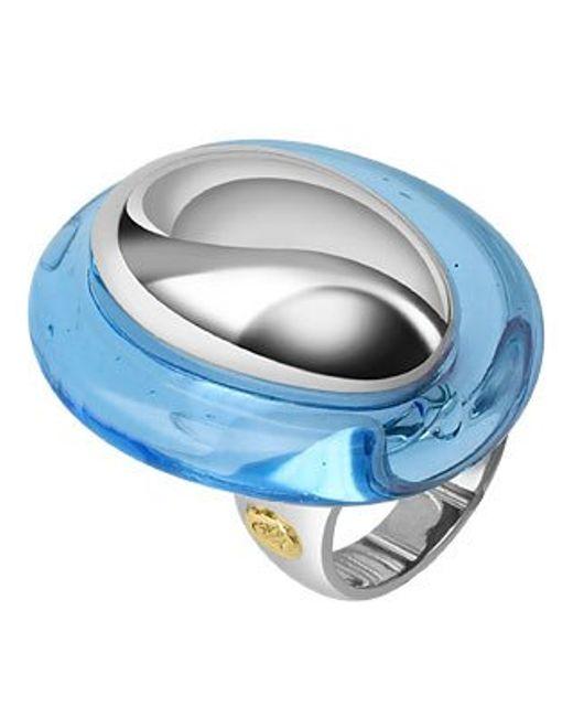 Masini | Vanita' - Blue Sterling Silver Oval Ring | Lyst