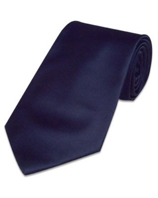 FORZIERI | Solid Dark Blue Extra-long Tie for Men | Lyst
