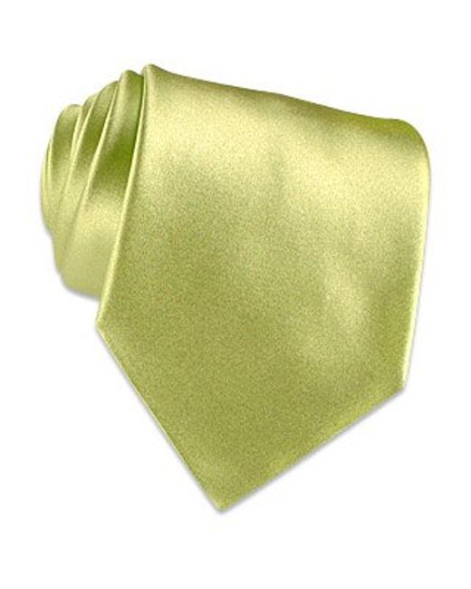 FORZIERI | Green Pale Mint Solid Smooth Silk Tie for Men | Lyst