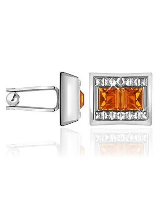 FORZIERI   Orange Square Stone Cufflinks for Men   Lyst