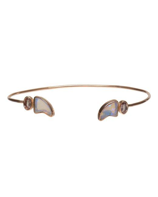 Dezso by Sara Beltran | Blue 18k Rose Gold & Opal Shark Fin Bracelet | Lyst