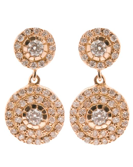 Ileana Makri | Pink Double 'solitaire' Diamond Earrings | Lyst