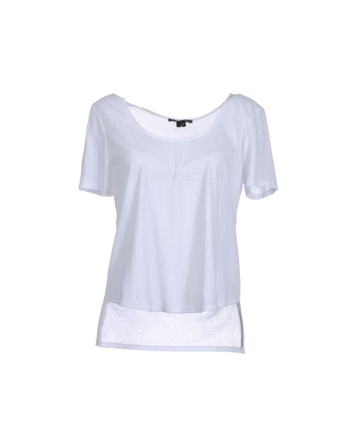 Theyskens' Theory | White Short Sleeve T-shirt | Lyst