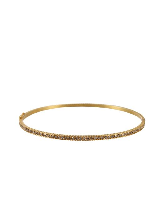Yossi Harari | Metallic Lilah Hinged Bangle With Champagne Diamonds | Lyst