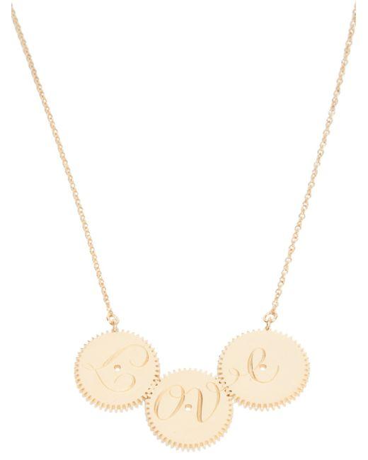 Clarice Price Thomas | Metallic Engraved Love Necklace | Lyst