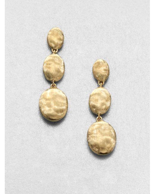 Marco Bicego   Metallic Siviglia 18k Yellow Gold Triple-drop Earrings   Lyst