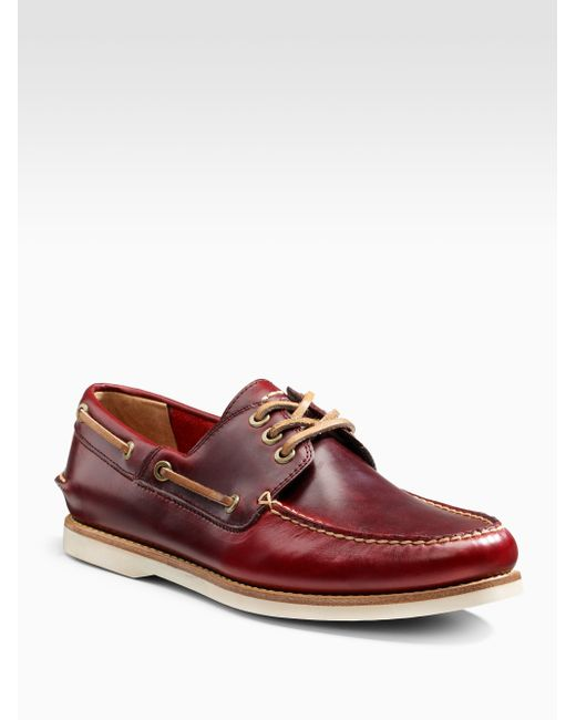 Frye   Brown Sully Boat Shoes for Men   Lyst