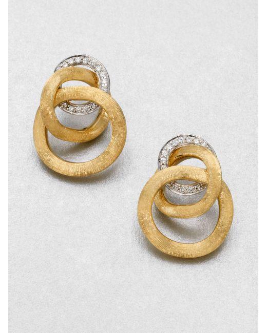 Marco Bicego | Metallic Jaipur Link Diamond & 18k Yellow Gold Earrings | Lyst