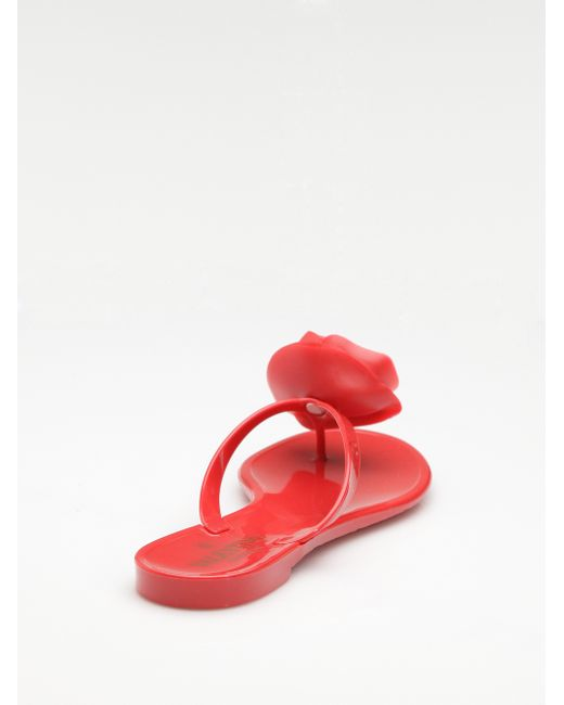 Valentino | Red Rose Jelly Thong Sandals | Lyst