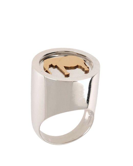 Loroetu   Metallic Ring   Lyst