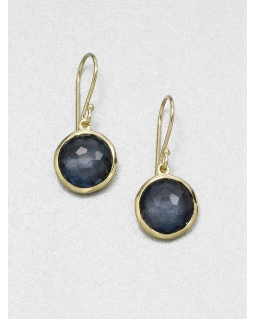 Ippolita | Lollipop London Blue Topaz & 18k Yellow Gold Mini Drop Earrings | Lyst