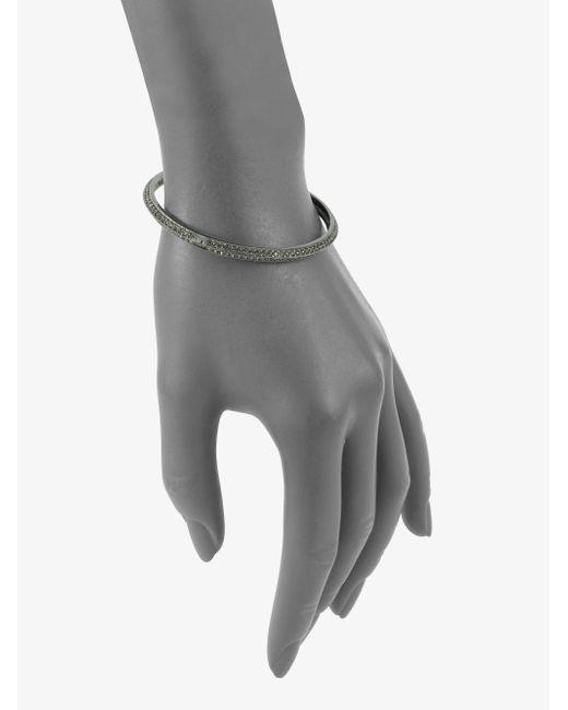 Adriana Orsini   Metallic Two-row Pave Antiqued Bracelet   Lyst