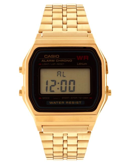 G-Shock | Metallic A159wgea-1ef Gold Digital Watch | Lyst