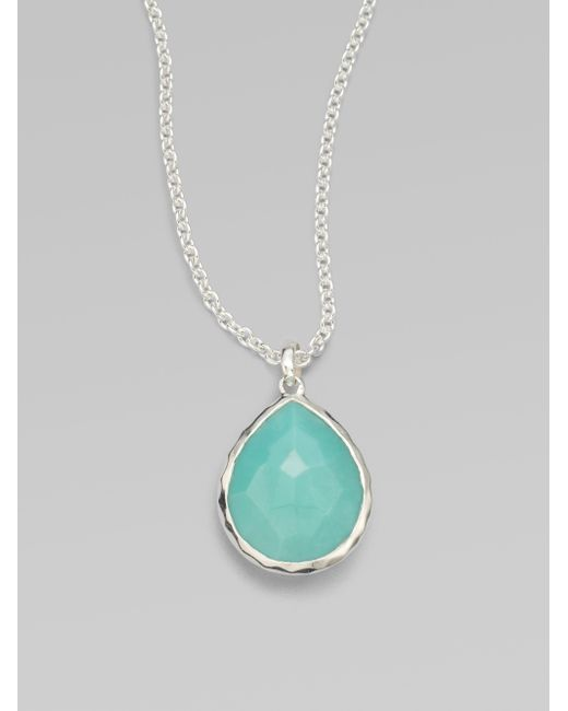 Ippolita | Metallic Rock Candy Turquoise & Sterling Silver Mini Teadrop Pendant Necklace | Lyst